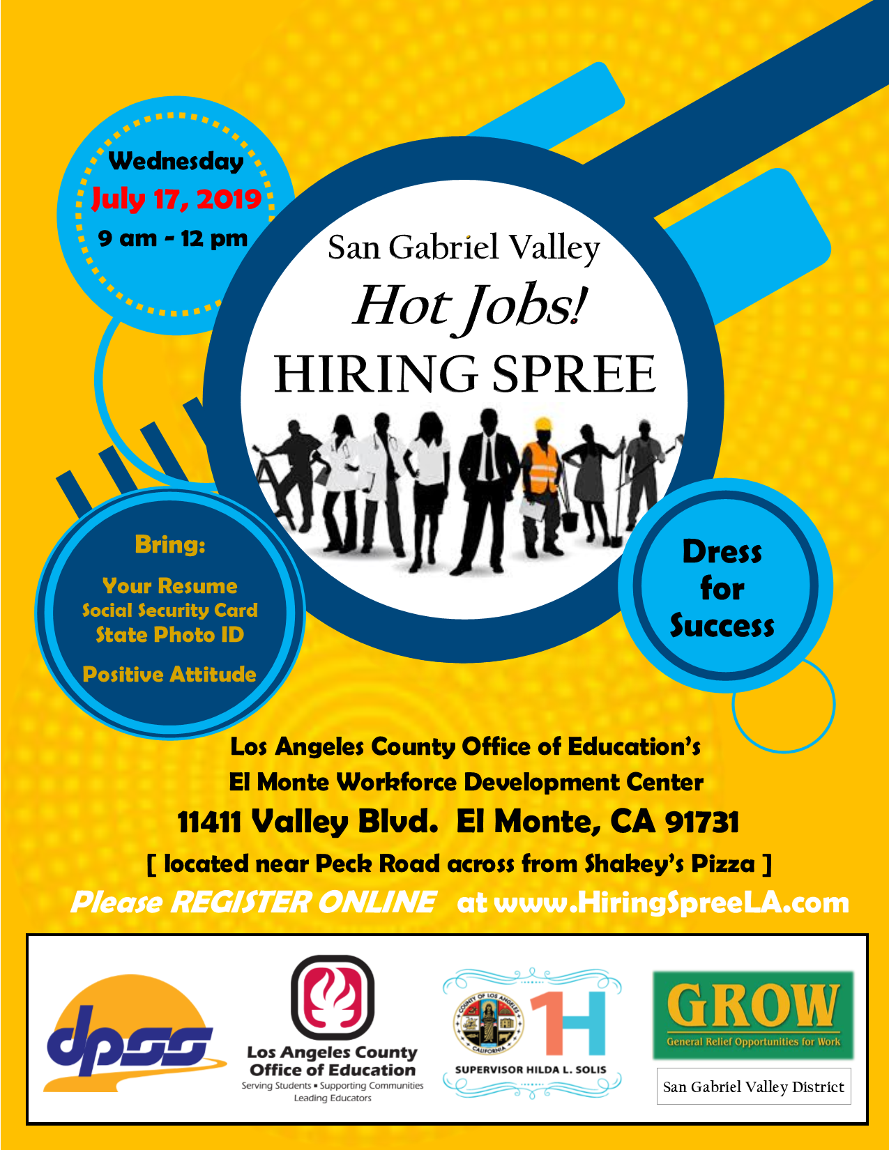 2019 hot jobs summer flyer