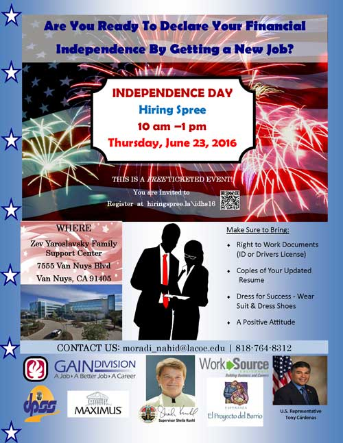 2016 job seekers flyer