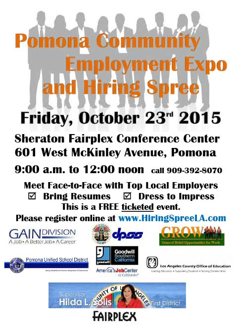 2015 pomona employment expo flyer