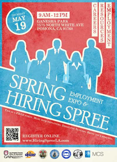 2016 pomona hiring spree flyer