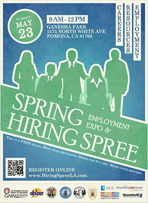 2017 pomona hiring spree flyer