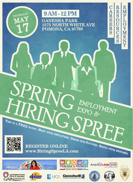 2018 pomona hiring spree flyer