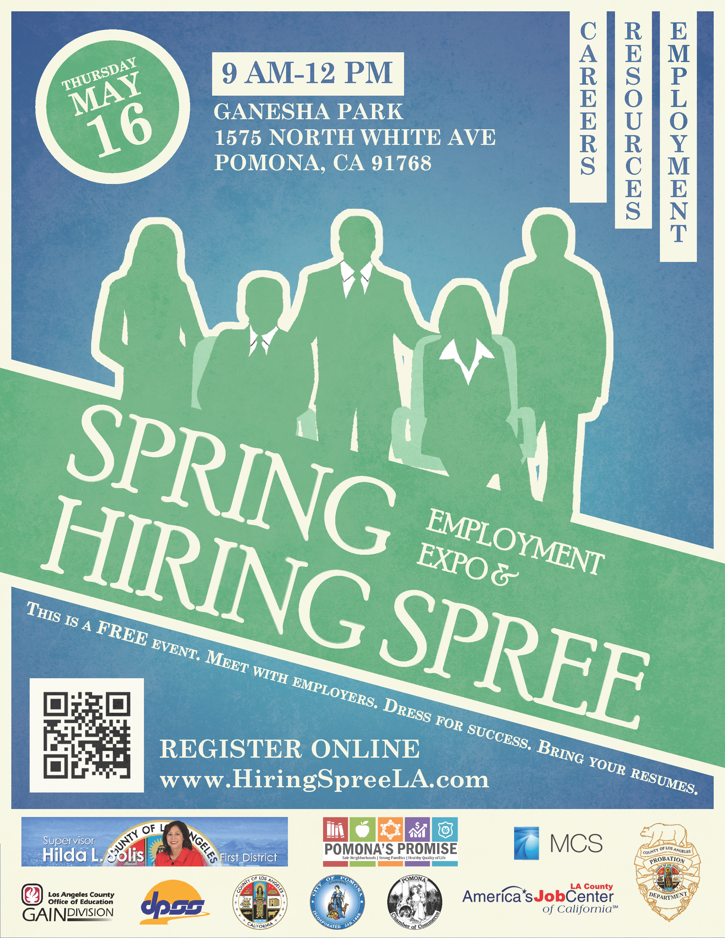 2019 pomona hiring spree flyer